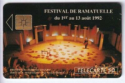 TELECARTE / PHONECARD .. FRANCE 50U PRIVEE EN424 FESTIVAL RAMATUELLE TBE C.10€