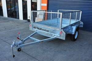 Heavy Duty 8x5 Box Trailer 1500kg ATM with Cage and Brake Underwood Logan Area Preview
