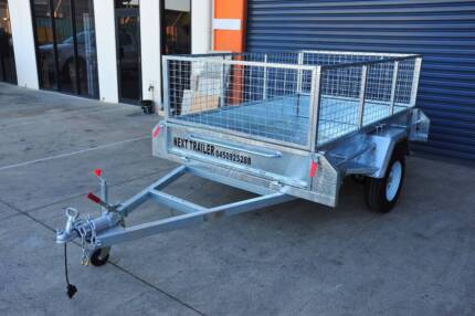 Heavy Duty 8x5 Box Trailer 1.5ton with Cage and Brake-Pre Order