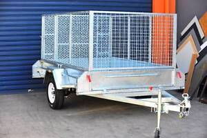 8x5 Trailer with 900mm cage and 1200mm fold down Ramp Heavy duty Underwood Logan Area Preview