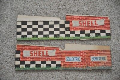 Scalextric vintage red brick Shell  2 x Track Bridge Supports