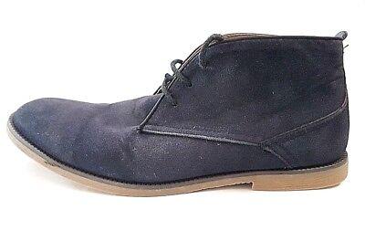 Blue Synthetic Suede derby desert Boots by Burton menswear UK size 9 EU43