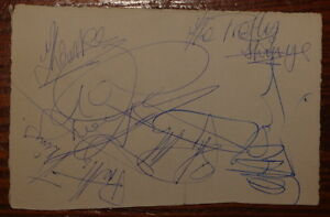 PRETTY-THINGS-HAND-SIGNED-AUTOGRAPHED-AUTOGRAPH-BOOK-PAGE-NICE-1960s-EXAMPLE