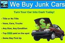 WE BUY ALL UNWANTED VEHICLES! Penrith Penrith Area Preview