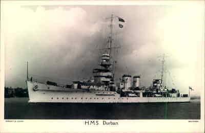 Postcard Sized photo HMS Durban Royal Navy  Wright & Logan photo