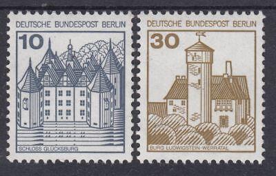 Berlin 532 AII und 534 AII Lettersetdruck ohne NR. postfrisch