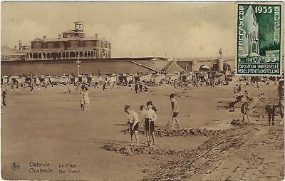 Oostende Ostende La Plage Het Strand 1958