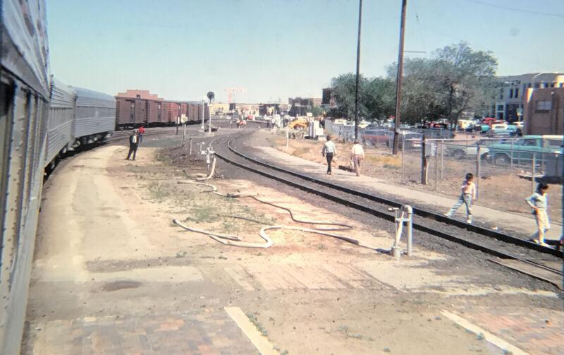 Vintage 1968 Train Passenger Cars / Tracks 35mm Slide  1-3#17