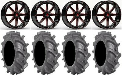 "Fuel Maverick Red 18"" Wheels 35"" BKT AT 171 Tires Polaris Ranger XP 9/1K"