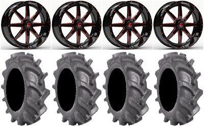 "Fuel Maverick Red 18"" Wheels 35"" BKT AT 171 Tires Sportsman RZR Ranger"