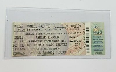 Ashlee Simpson Belle Tire Concert Series Ticket Dte Energy Music Theater 2006