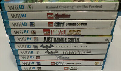 10X Wii U Games Lot Animal Crossing LEGO Avengers Star Wars Just Dance Batman