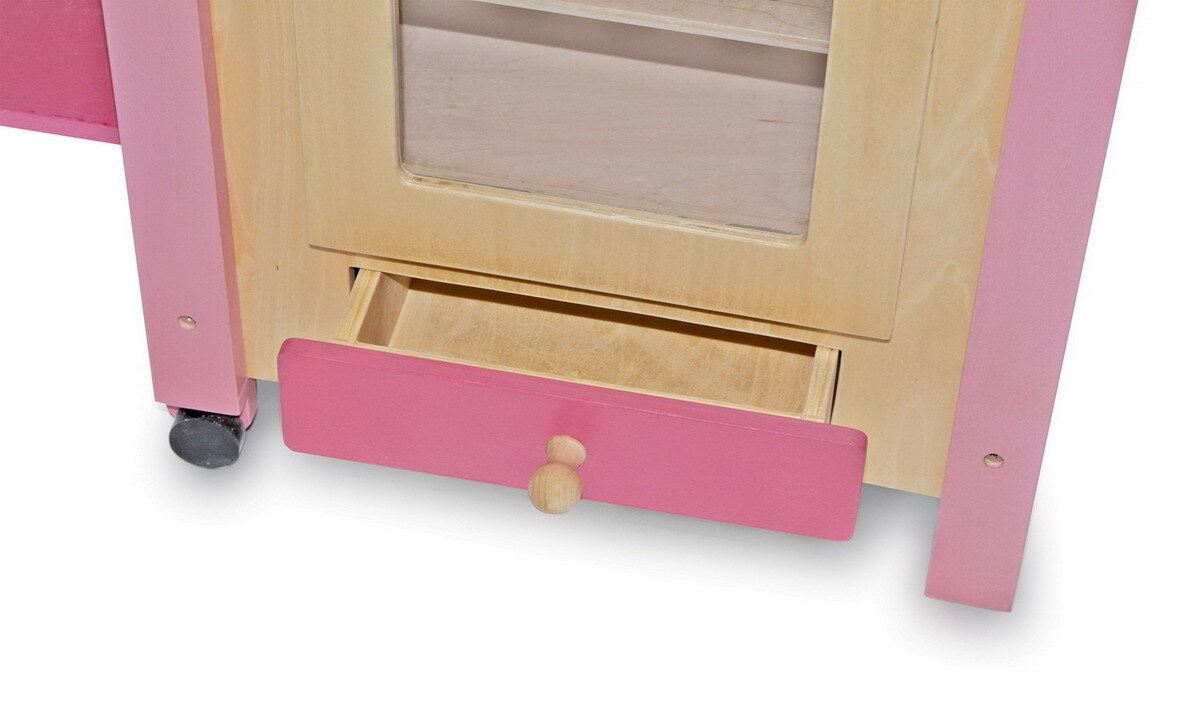 holz k che rosa waschmaschine herd puppen k che spielk che puppenkinder eur 129 90 picclick de. Black Bedroom Furniture Sets. Home Design Ideas