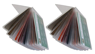 2 Clear Plastic Wallet Insert Replacement Picture Card Holder Bifold 12 Page ech