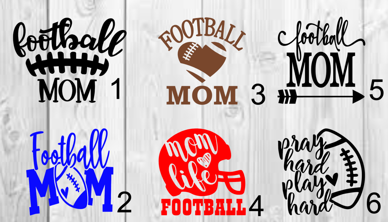 Home Decoration - Football mom  Decal 3inchx3inch
