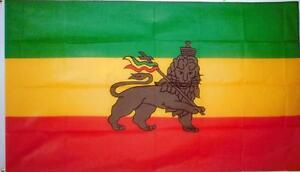 ETHIOPIAN LION OF JUDAH FLAG OF ETHIOPIA 5 x 3 FT GREAT VALUE POLYESTER NEW