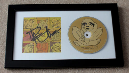 DAVE MATTHEWS BAND SIGNED FRAMED AWAY FROM THE WORLD CD COVER BOOKLET COA PROOF!