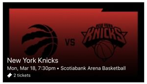 Toronto Raptors vs New York Knicks tickets!! Don't miss out!