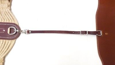 "Brand 34/"" Beige 27 String Western Roper Girth w// Leather Keeper Horse Tack D.A"