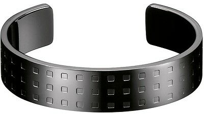 Calvin Klein Bracelet Grid Bangle Women Black PVD, (Calvin Klein Jewelry Grid)