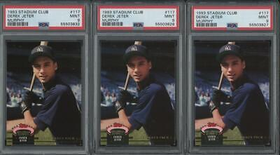 1993 Topps Stadium Club Murphy #117 Derek Jeter RC Rookie Mint PSA 9 Lot of 3