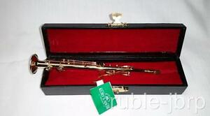 CLARINET KURT ADLER REALISTIC BRASS MUSICAL INSTRUMENT XMAS ORNAMENT NEW/CASE