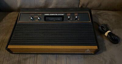 Official Atari 2600 Wood Grain Console! ~ Works Great! ~ Fast Shipping! ~ LQQK