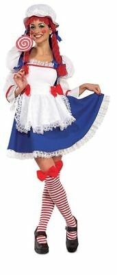 Rubies Rag Doll Stockings Yarn Hair Adult Womens Halloween Costume 888627 - Rag Doll Halloween Costumes Adults