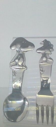 Peanuts Snoopy Woodstock Lunts Silver Plate Fork & Spoon Excellent Condition