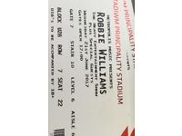 £100 - 2 seated Robbie Williams tickets.