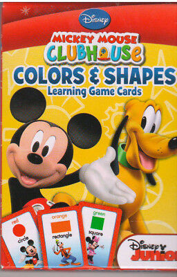 DISNEYS MICKEY MOUSE CLUBHOUSE COLORS AND SHAPES LEARNING GAME CARDS