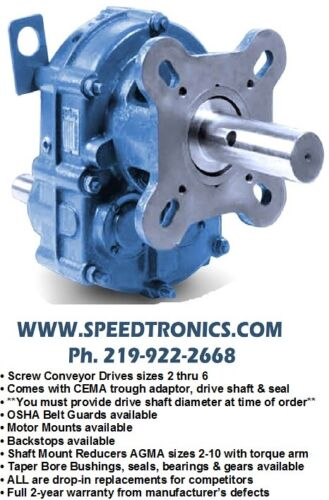 New! Screw Conveyor Reducer Scxt625, 356058, 25:1 Ratio, Same As Dodge Scxt625t