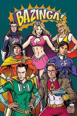 Big Bang Theory Costumes (BIG BANG THEORY ~ SUPERHERO COSTUMES ~ 24x36 TV POSTER Jim Parsons Kaley)