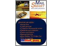 MailSmart Parcel, Courier & CARGO Services to UK, India, US, Middle East, Africa & Rest of the World