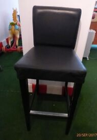 Black tall Ikea faux leather henriksdal chair in good condition collection E8 3bq