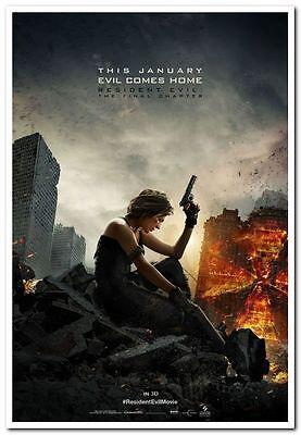Resident Evil  Final Chapter  2017  Orig 27X40 Adv Movie Poster  Milla Jovovich