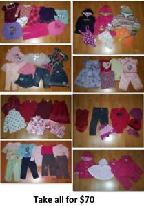 2T Girls Clothing Lot 3 (Take 58 Pieces for $70)
