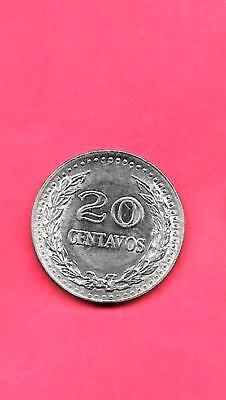 COLOMBIA KM246.1 1973 UNC-UNCIRCULATED MINT OLD 20 VINTAGE CENTAVOS COIN