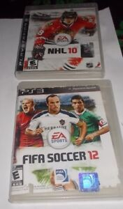 jeux pour ps3 , fifa 12, nhl 10 ,midnight club los angeles,sport