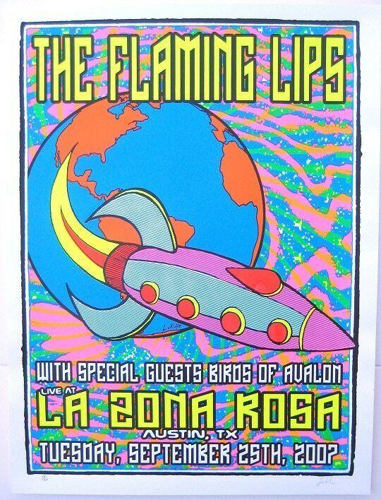 The Flaming Lips Concert Poster Lindsey Kuhn 2007 Austin