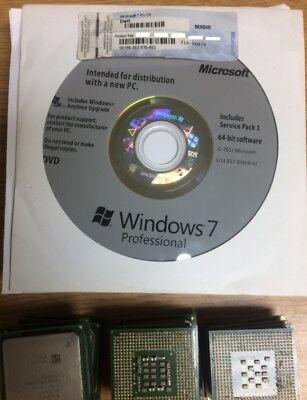 Windows 7 Pro 64 Bit Professional Sp1 Dvd   Coa Product Key   Hardware
