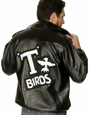 Mens 50s Official Grease T Bird Jacket Danny 80s Stag Fancy Dress Costume](T Bird Costume Jacket)