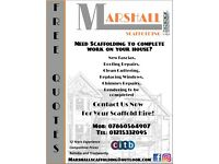 Marshall Scaffolding - Domestic Scaffolding Erection for every day jobs! Free No Obligation Quote!