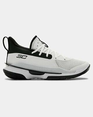 Under Armour Men's Team Curry 7 Basketball Shoes, White, 9 D(M) US