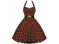 polka dot red fancy dress 1920s