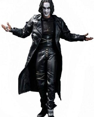 Men's Steampunk Gothic The Crow Eric Draven Leather Trench Coat Jacket](Gothic Coats Mens)