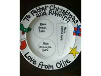 Personalised Christmas plates and mugs