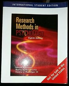 Research Methods in Psychology 8th Edition 2006