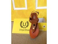 Sandals Camel Size 4 New