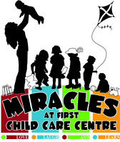 Spaces Available - Miracles at First Child Care Centre